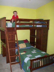X's New Bunk Bed